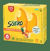 גלידת שטראוס - סולרו וניל פירות טרופים