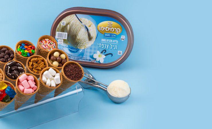 גלידת קרמיסימו מפנקת בטעם וניל צרפתי